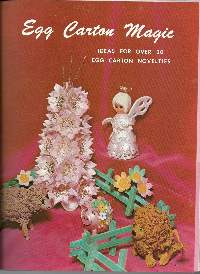 Vintage crazy and not so crazy craft patterns part 2 for Plastic egg carton crafts