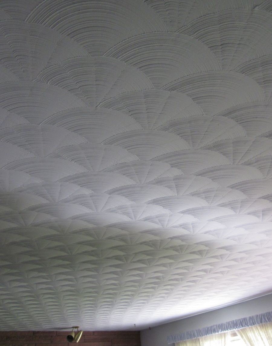 Fan pattern plaster ceiling