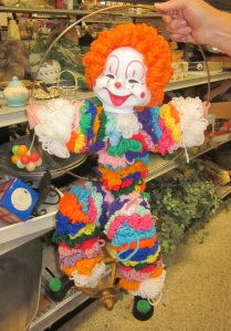 Nothing says scary like homemade yarn clownsho
