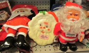 A trio of Santas