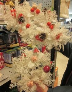 White plastic wreathes