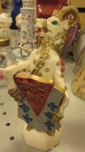 Weird Heraldic Tusked Ram