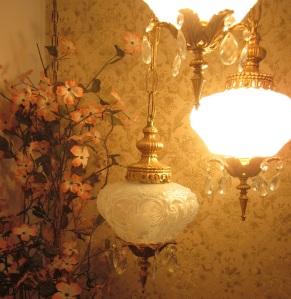 Hanging light close-up