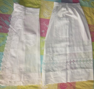 White Cotton Aprons 2