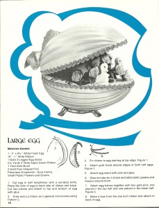 Large ribbon egg
