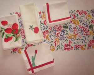 Mix and Match napkins and Tablecloth