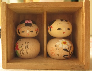 Wooden Asian Bead Dolls