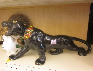 Fifties bejeweled panther figurine