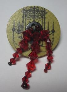 Halloween Button Brooch