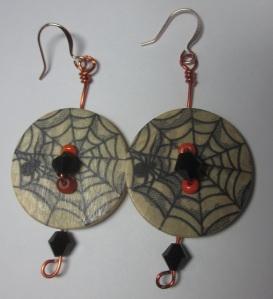 Halloween Button Earring