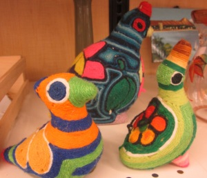Mexican pottery birds with a twist