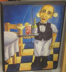 Gollum the waiter painting