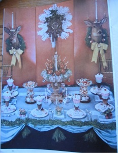 Vintage Christmas Table Decor