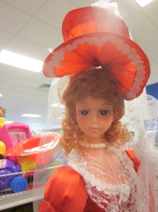 Orange doll face