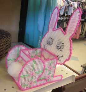 Plastic canvas bunny side view