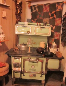 Green Kitchen Wood Stove