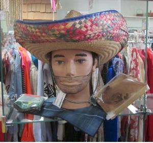 appy Cinco de Mayo mannequin head dude