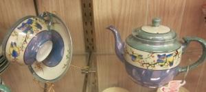 Lusterware Owl teapot