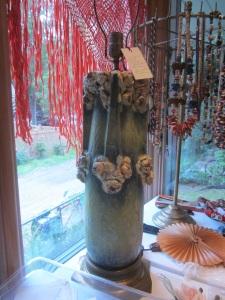 Grotesque ceramic lamp
