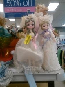 Big, foofy dolls