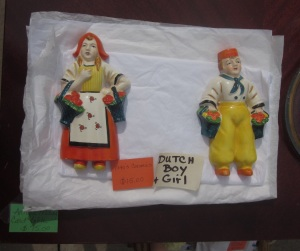 Ceramic Dutch Boy and Girl