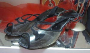 Vintage lucite shoes