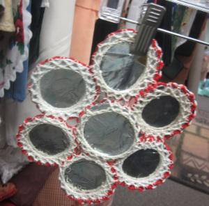 Back side of crocheted trivet