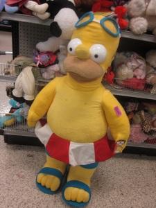 Big ol stuffed Homer in a bathing suit!