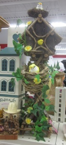 Bird house with too many birds