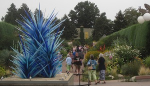 Blue Icicle Towers into Perennial Fiori walk