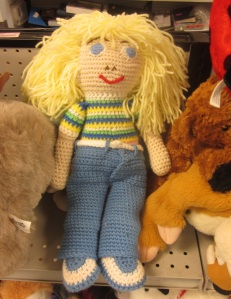 Knitted doll is a hot mess