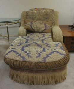 Over the top chaise