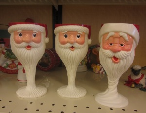 Santa before and after Christmas