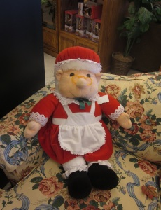 Troll doll as Mrs Claus
