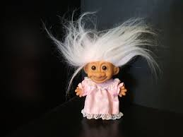 White haired troll doll
