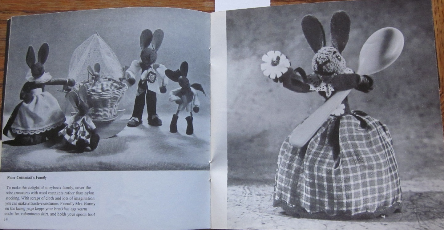 Vintage Crazy And Not So Craft Patterns Vi Second Hand Roses Bunny Ring Universal Up To 55 Inch Rag Dolls