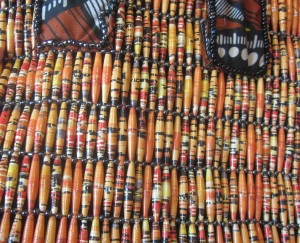 Paper bead close up