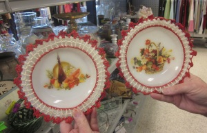 Decals and crochet cannot save these plates