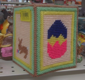 Plastic canvas Tissue holder