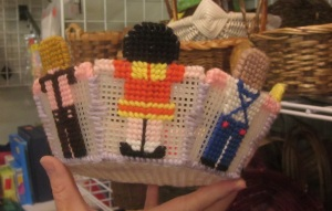 Plastic canvas basket