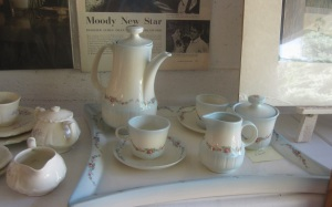 Coffee set and China tray