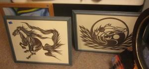 Papercut horses