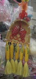 Shrimp and corn on the cob