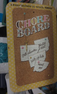 Korkies Chore Board back