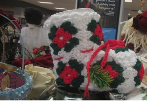 Crochet Santa Boot and Bride Nutcracker