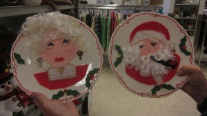Mr and Mrs Claus Plates