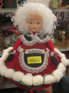 Mrs Claus is made from magazines and cotton balls!