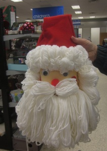 Santa Head made from Bleach bottle