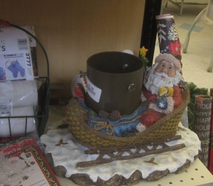Santa Metal Christmas Stand
