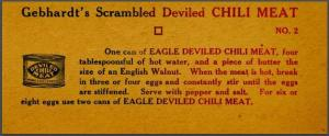 Deviled Chili Meat